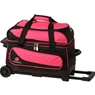 Ebonite Transport Double Roller Bowling Bag- Pink/Black
