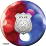 Police Department Red/Blue Lights Bowling Ball