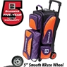 Brunswick Flash X Triple Roller Bowling Bag- Purple/Orange