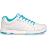 KR Strikeforce Ladies Satin Bowling Shoes- White/Aqua