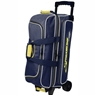 Storm Streamline 3 Ball Roller Bowling Bag- Navy/Gray/Yellow