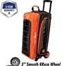 Ebonite Eclipse Triple Roller Bowling Bag- Orange