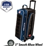 Ebonite Eclipse Triple Roller Bowling Bag- Navy