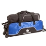 Brunswick Crown Triple Tote With Pouch Bowling Bag - Royal