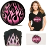 Moxy Pink Flame Bowling Ball, Bag, Shirt and Towel Package