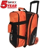 Moxy Blade Premium Double Roller Bowling Bag- Orange/Black