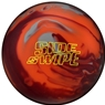 Columbia 300 Sideswipe Solid Bowling Ball- Orange/Red/Gray