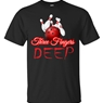 Three Fingers Deep Bowling T-Shirt- Black