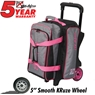 KR Krush Double Deluxe Roller Bowling Bag- Stone Pink