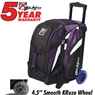 KR Cruiser Smooth Double Roller Bowling Bag- Purple/White/Black