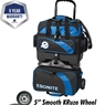 Ebonite Equinox 4 Ball Roller Bowling Bag- Black/Royal
