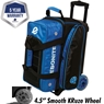 Ebonite Eclipse Double Roller Bowling Bag- Black/Royal