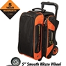 Hammer Premium Double Ball Roller Bowling Bag- Black/Orange