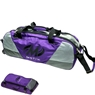 Motiv Ballistix Triple Tote Roller Bowling Bag with Shoe Bag- Purple