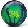 Brunswick KingPin Max Bowling Ball- Navy/Green/Light Blue