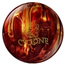 Ebonite Cyclone Fireball PRE-DRILLED Bowling Ball- Red/Gold | Free Shipping