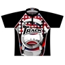 Track Dye-Sublimated Jersey - Red/White/Black