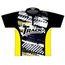 Track Dye-Sublimated Jersey - Gray/Black/Yellow