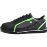 Brunswick Mens Punisher Bowling Shoes Right Hand Wide- Black/Neon Green