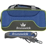 Brunswick Crown Deluxe Double Tote- Navy/Lime