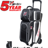 KR Strikeforce Fast Triple Roller Bowling Bag- Black/White