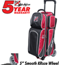 KR Strikeforce Fast Triple Roller Bowling Bag- Brick Red/Black