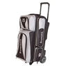 Brunswick Crown Deluxe Triple Roller Bowling Bag- Silver