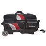900 Global Deluxe 3 Ball Roller Bowling Bag- Black/Red/Silver