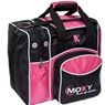 Moxy Candlepin Deluxe Tote Bowling Bag- Pink/Black