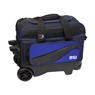 BSI Large Wheel Double Roller Bowling Bag- Black/Blue