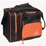 BSI Deluxe Single Ball Bowling Bag- Black/Orange