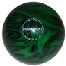 "Duckpin Glo Bowling Ball 4 7/8""- Green/Black"