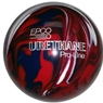 "Duckpin EPCO Urethane Bowling Ball 4 7/8""- Dark Red/Royal/White"