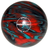 "Candlepin Paramount Marbleized Bowling Ball 4.5""- Teal/Orange/Black"
