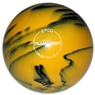 "Candlepin Paramount Glow Bowling Ball 4.5""- Yellow/Black"