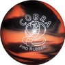 "Candlepin Cobra Pro Rubber Bowling Ball 4.5""- Orange/Black"