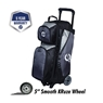 Ebonite Players Triple Roller Bowling Bag- Charcoal/Black