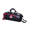 Ebonite Players 3 Ball Tote Bowling Bag- Black/Red