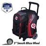 Ebonite Players Double Roller Bowling Bag- Black/Red
