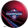 2019 MLB World Series Champions - Washington Nationals Bowling Ball - Red
