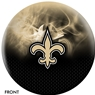 New Orleans NFL On Fire Bowling Ball