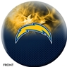 Los Angeles Chargers NFL On Fire Bowling Ball