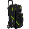 Motiv Vault 3 Ball Roller Bowling Bag- Grey/Lime