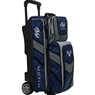 Motiv Vault 3 Ball Roller Bowling Bag- Navy