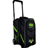 Motiv Vault 2 Ball Roller Bowling Bag- Grey/Lime