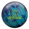Columbia 300 Outlook Solid Bowling Ball - Turquoise/Purple