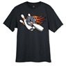 Flame Ball and Pins Bowling T-Shirt