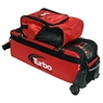 Turbo 3 Ball Triple Tote Bowling Bag- Red/Black