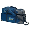 Track Premium 3 Ball Tote Roller Bowling Bag with Pouch- Blue/Gray