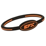 EFX Silicone Oval Wristband- Black/Orange